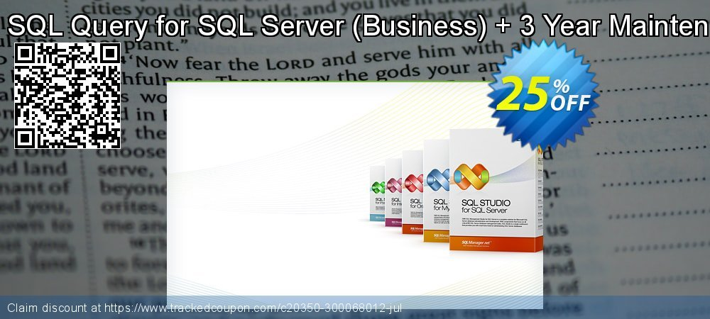 EMS SQL Query for SQL Server - Business + 3 Year Maintenance coupon on Back to School season deals