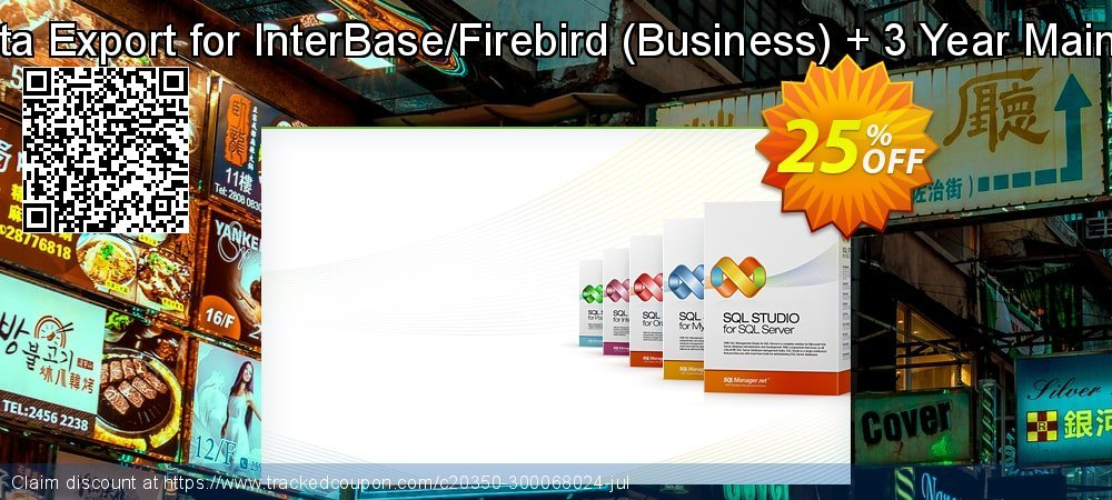 EMS Data Export for InterBase/Firebird - Business + 3 Year Maintenance coupon on Halloween offering sales