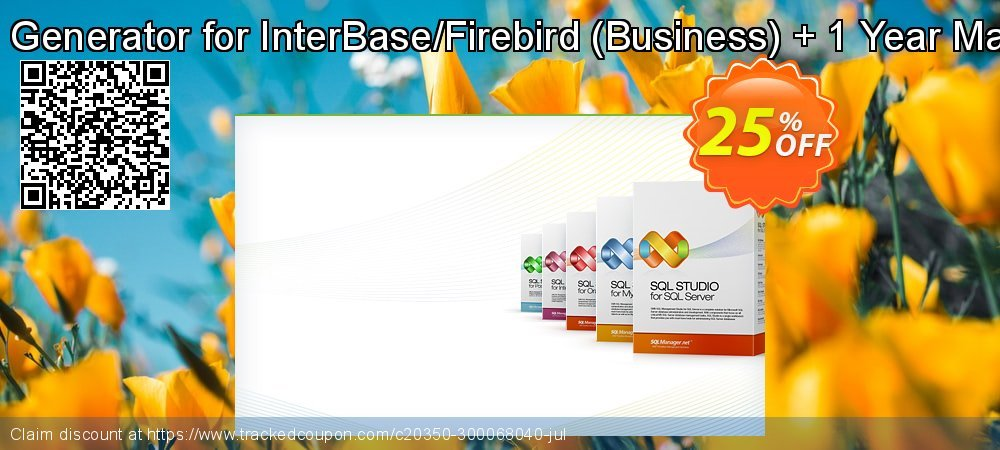 EMS Data Generator for InterBase/Firebird - Business + 1 Year Maintenance coupon on Back-to-School event offer