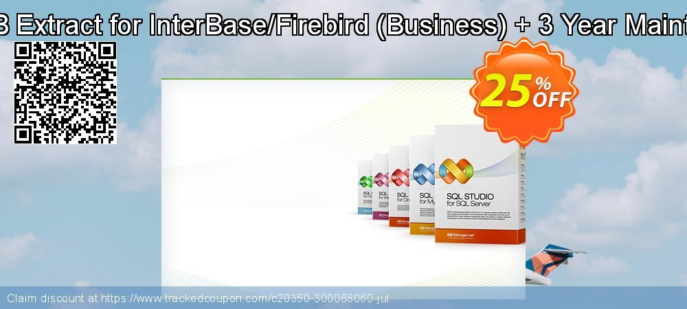 EMS DB Extract for InterBase/Firebird - Business + 3 Year Maintenance coupon on Back to School shopping offering discount