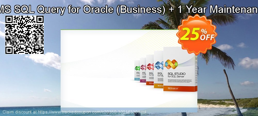 EMS SQL Query for Oracle - Business + 1 Year Maintenance coupon on Exclusive Teacher discount discounts