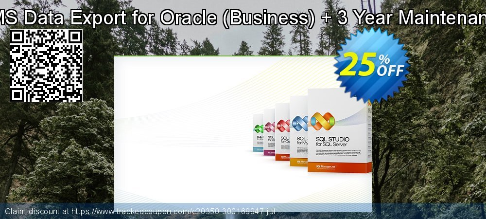 EMS Data Export for Oracle - Business + 3 Year Maintenance coupon on Lunar New Year discount