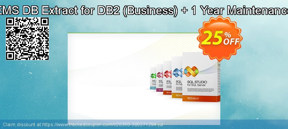 EMS DB Extract for DB2 - Business + 1 Year Maintenance coupon on Halloween deals