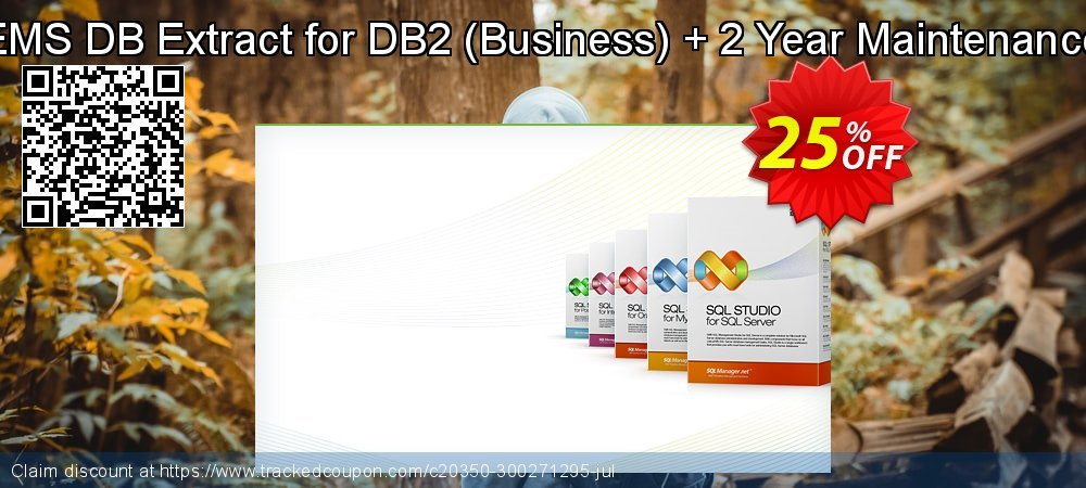 EMS DB Extract for DB2 - Business + 2 Year Maintenance coupon on Back to School shopping deals