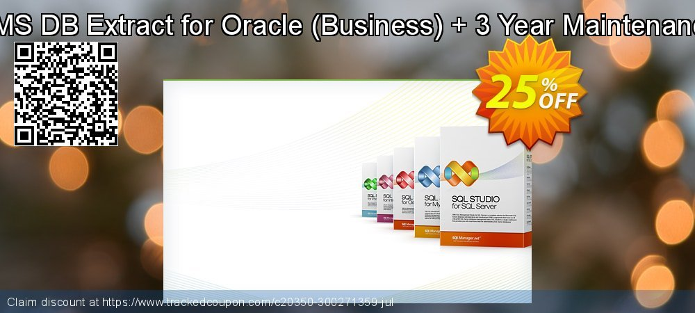 EMS DB Extract for Oracle - Business + 3 Year Maintenance coupon on Back to School promo offer