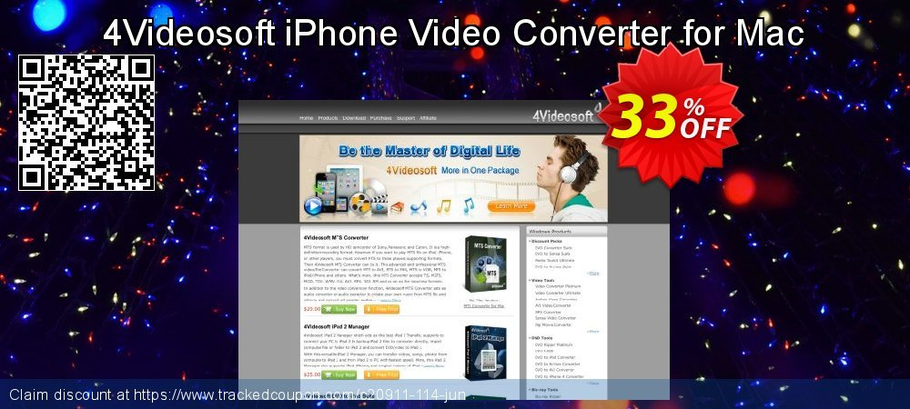 Get 30% OFF 4Videosoft iPhone Video Converter for Mac discount