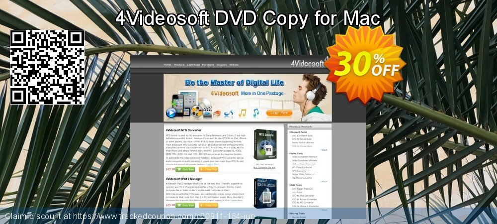 Get 30% OFF 4Videosoft DVD Copy for Mac sales