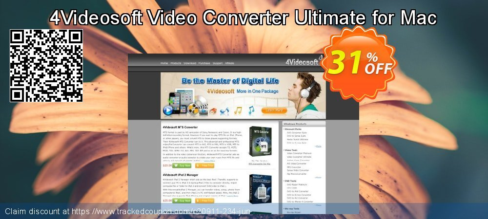 Get 30% OFF 4Videosoft Video Converter Ultimate for Mac offering sales