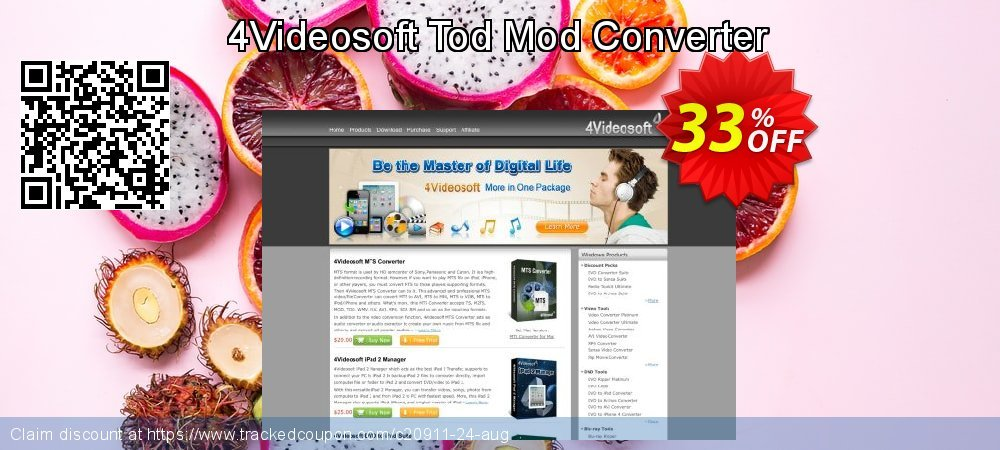 4Videosoft Tod Mod Converter coupon on New Year sales