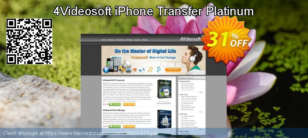 Get 30% OFF 4Videosoft iPhone Transfer Platinum offering sales