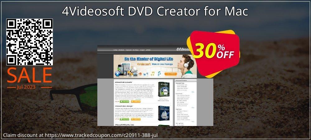 Get 30% OFF 4Videosoft DVD Creator for Mac offering sales