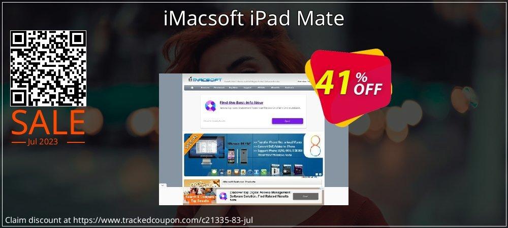 Get 40% OFF iMacsoft iPad Mate offer