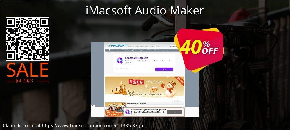 Get 40% OFF iMacsoft Audio Maker offering discount