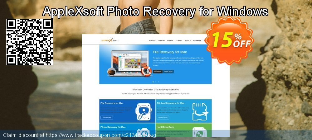 AppleXsoft Photo Recovery for Windows coupon on Thanksgiving offering discount