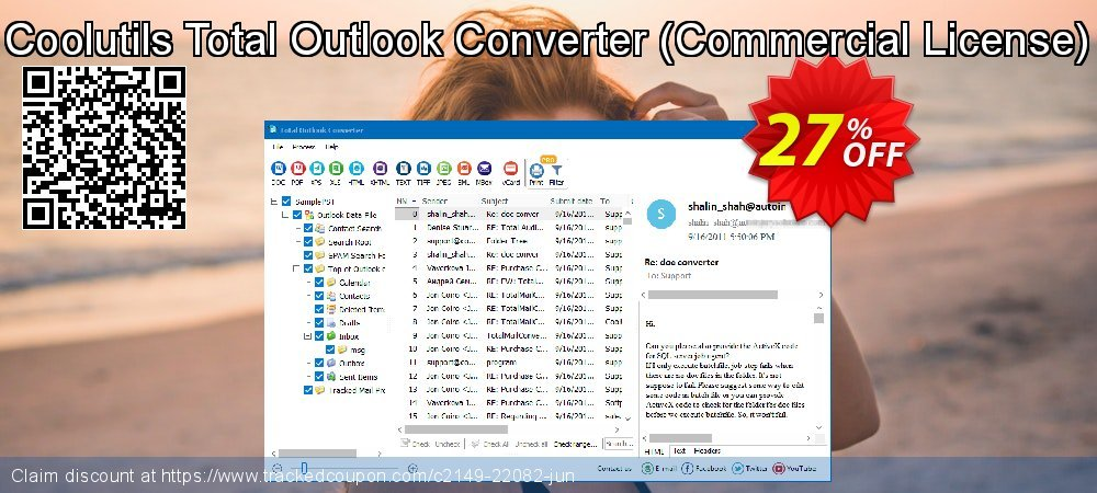 Claim 27% OFF Coolutils Total Outlook Converter - Commercial License Coupon discount July, 2020