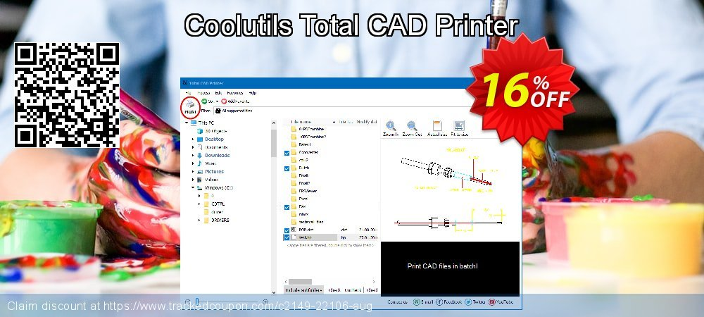 Coolutils Total CAD Printer coupon on Cheese Pizza Day discounts