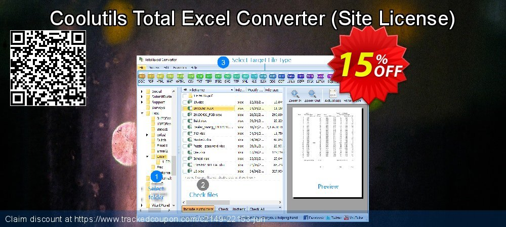 Coolutils Total Excel Converter - Site License  coupon on Sexual Health Day sales