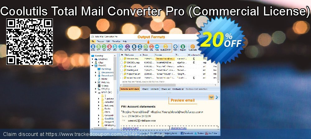 Coolutils Total Mail Converter Pro - Commercial License  coupon on National Singles Day offering sales