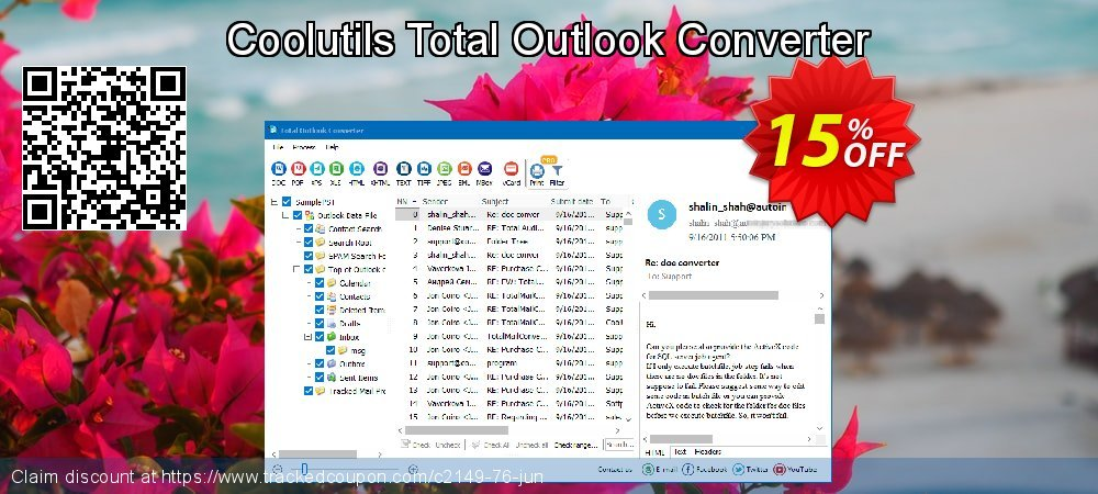 Claim 15% OFF Coolutils Total Outlook Converter Coupon discount February, 2020