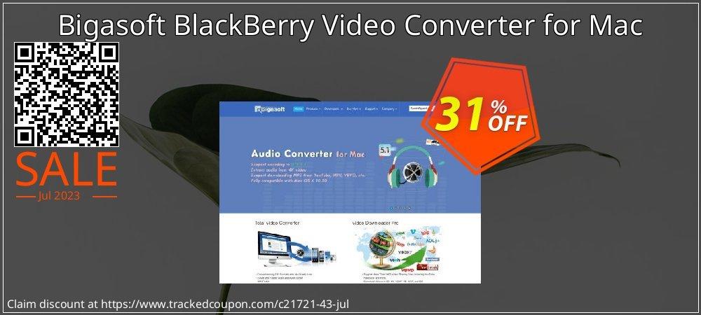 Get 30% OFF Bigasoft BlackBerry Video Converter for Mac offering sales