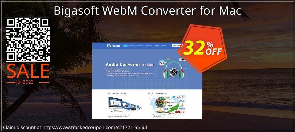 Get 30% OFF Bigasoft WebM Converter for Mac offering sales