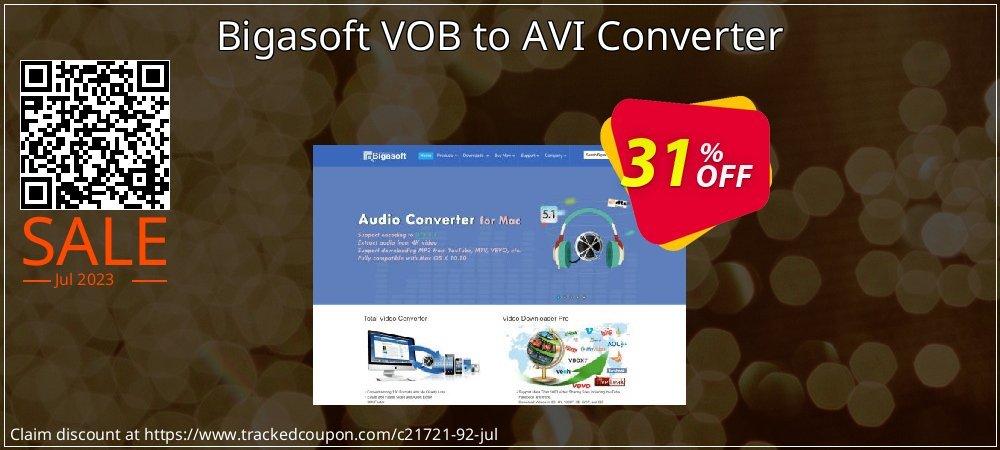 Bigasoft VOB to AVI Converter coupon on Halloween offering sales