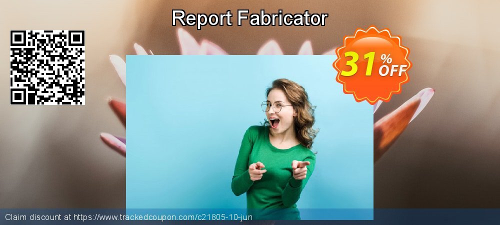 Report Fabricator coupon on Father's Day discount