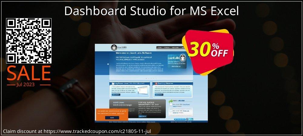 Dashboard Studio for MS Excel coupon on Super bowl super sale