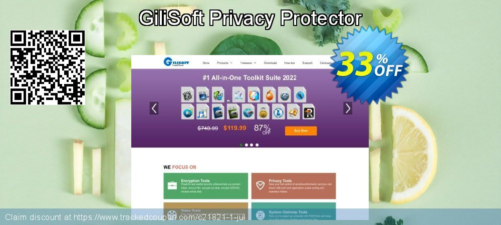GiliSoft Privacy Protector coupon on Halloween offering sales