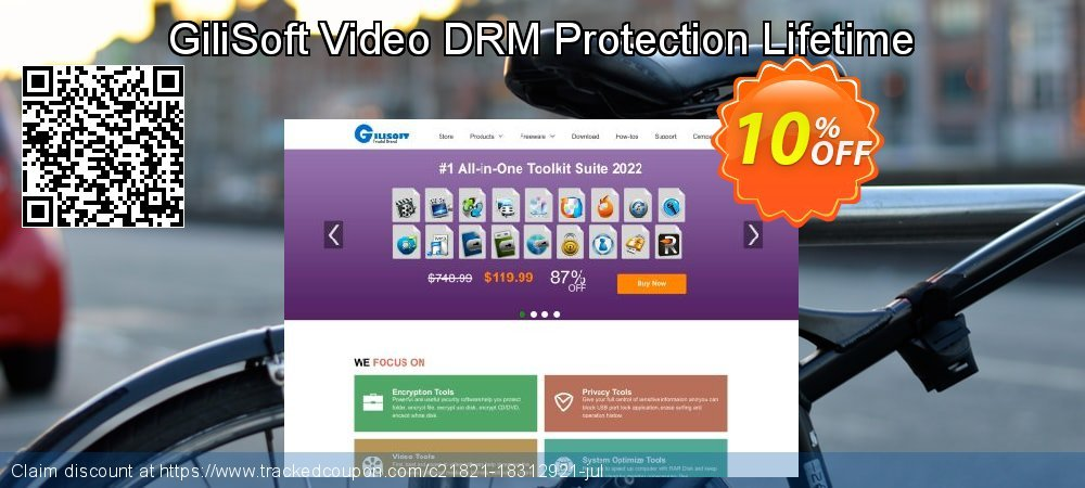 Get 10% OFF GiliSoft Video DRM Protection Lifetime promo sales