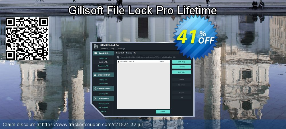 Gilisoft File Lock Pro Lifetime coupon on National Kissing Day offering sales