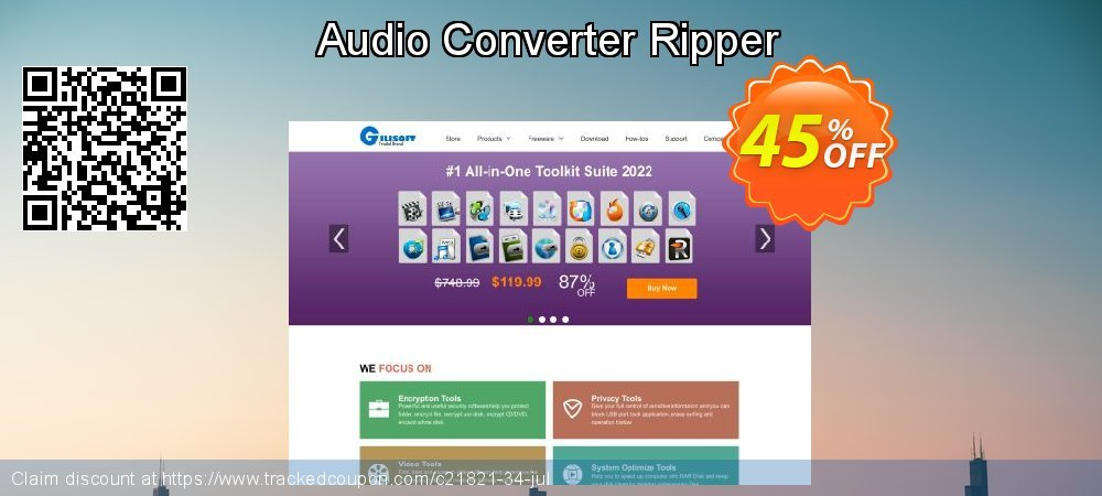Audio Converter Ripper coupon on Halloween offer
