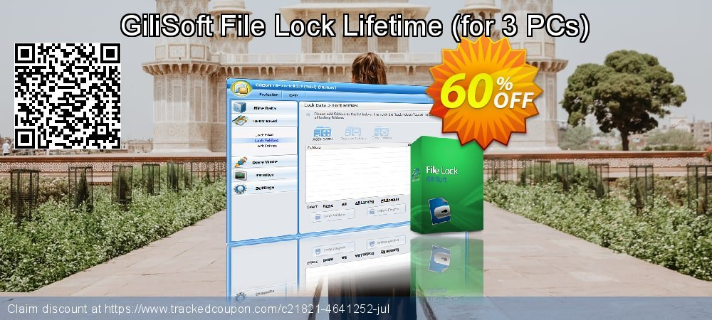 GiliSoft File Lock Lifetime - for 3 PCs  coupon on National Cheese Day super sale