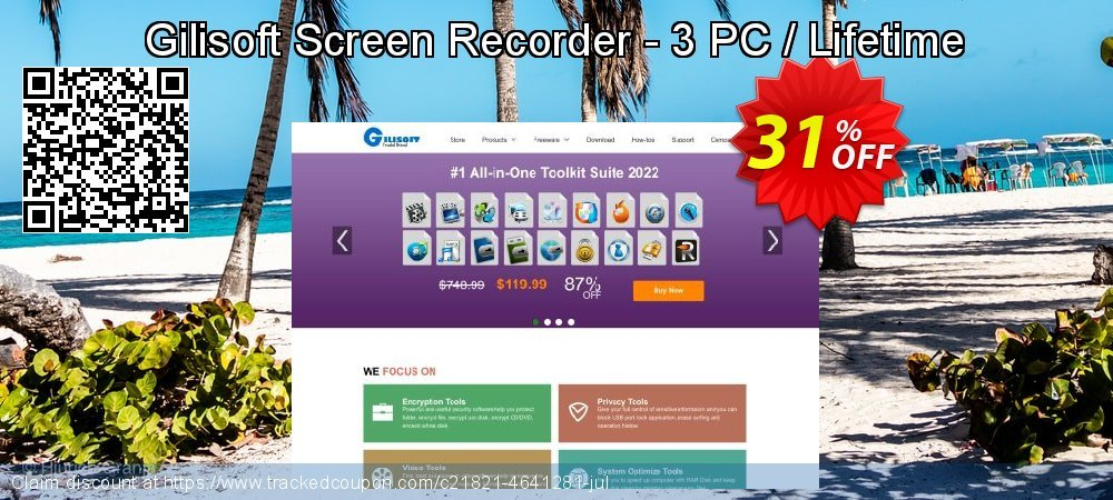 Get 30% OFF Gilisoft Screen Recorder - 3 PC / Lifetime promo