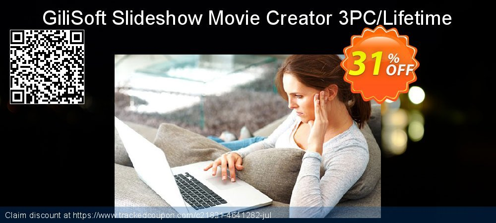 GiliSoft Slideshow Movie Creator 3PC/Lifetime coupon on Thanksgiving offering sales