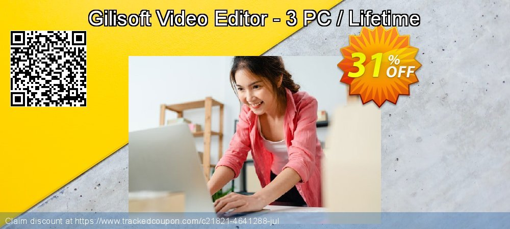 Gilisoft Video Editor - 3 PC / Lifetime coupon on Back to School coupons sales