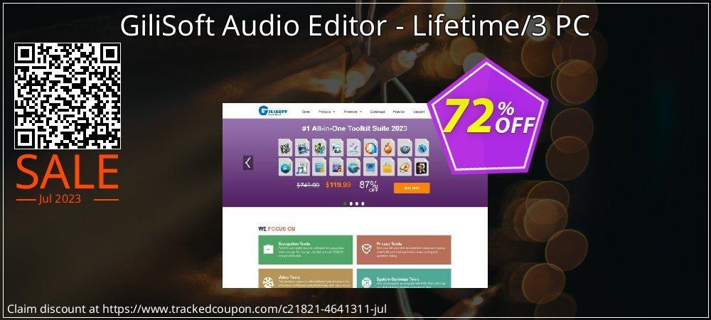 Get 70% OFF GiliSoft Audio Editor - Lifetime/3 PC discounts