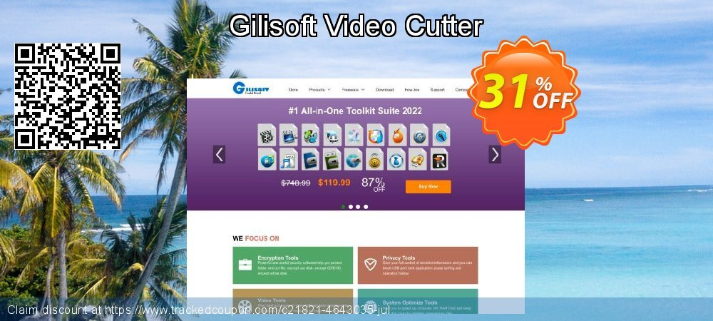 Gilisoft Video Cutter coupon on Int'l. Women's Day offering discount