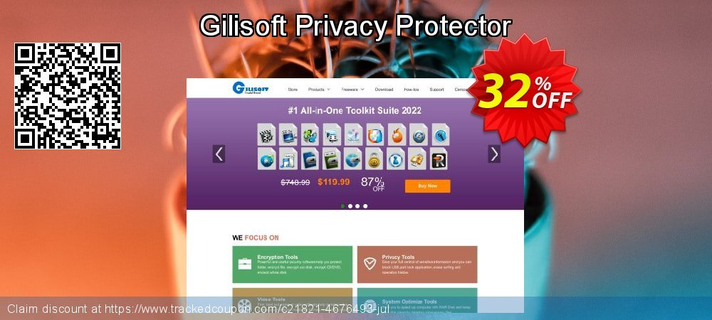 Gilisoft Privacy Protector coupon on Black Friday promotions