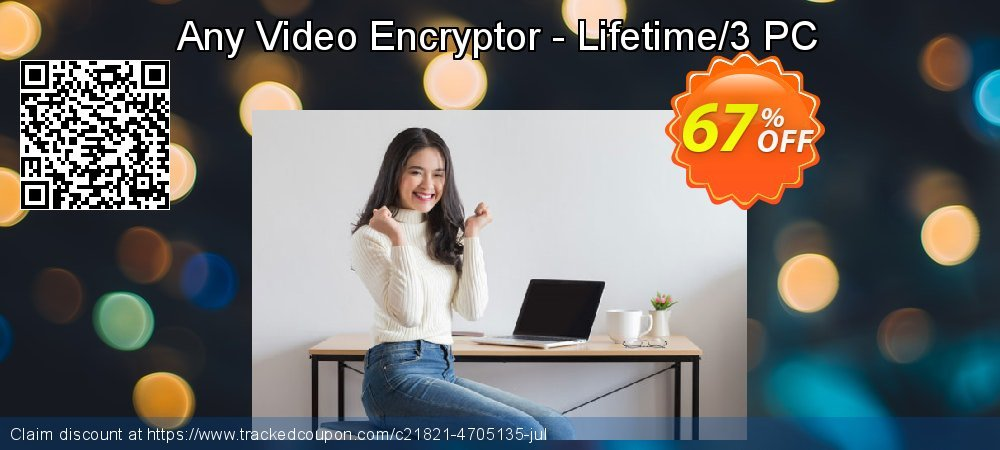 Get 67% OFF Any Video Encryptor - Lifetime/3 PC offering deals
