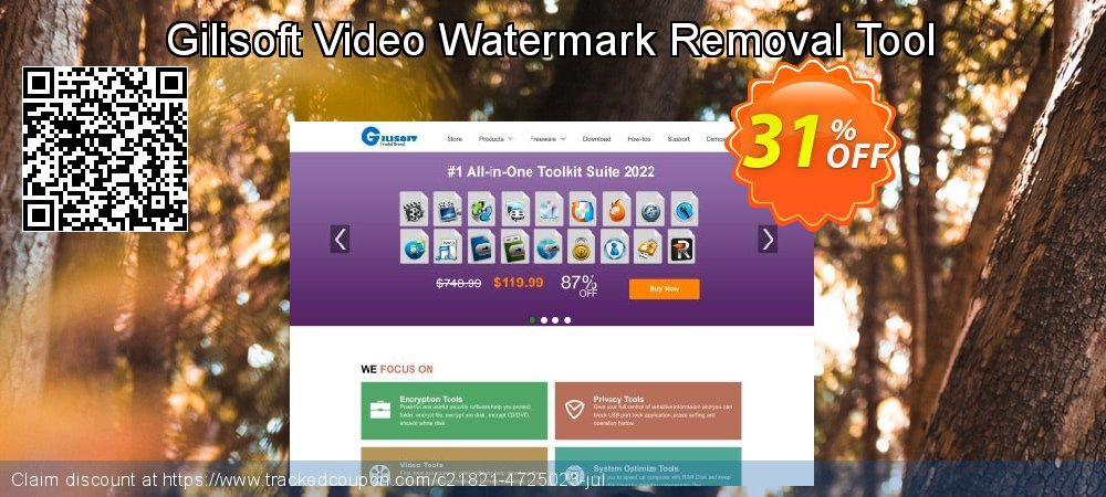 Gilisoft Video Watermark Removal Tool coupon on End of Year offer
