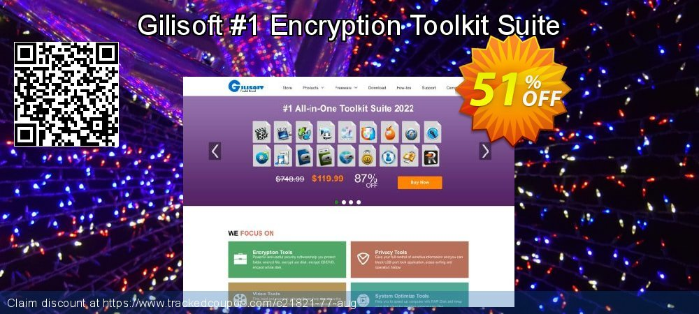 Get 50% OFF Gilisoft #1 Encryption Toolkit Suite offering sales