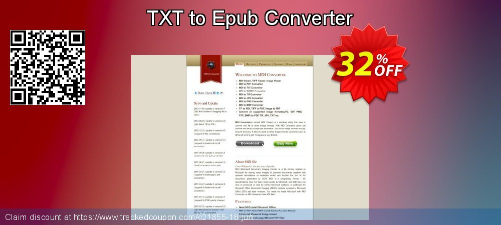 Get 30% OFF TXT to Epub Converter offering sales