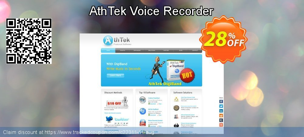 Get 20% OFF AthTek Voice Recorder deals
