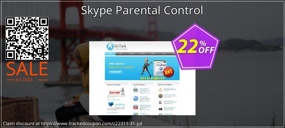 Get 20% OFF Skype Parental Control offering discount
