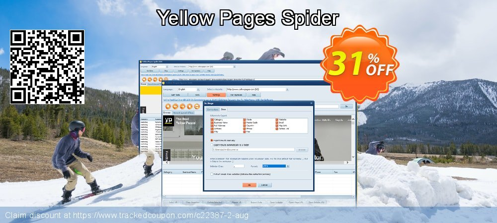 Yellow Pages Spider coupon on Halloween offering sales