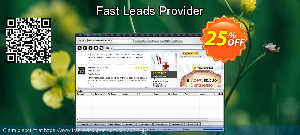 Get 25% OFF Fast Leads Provider offering deals