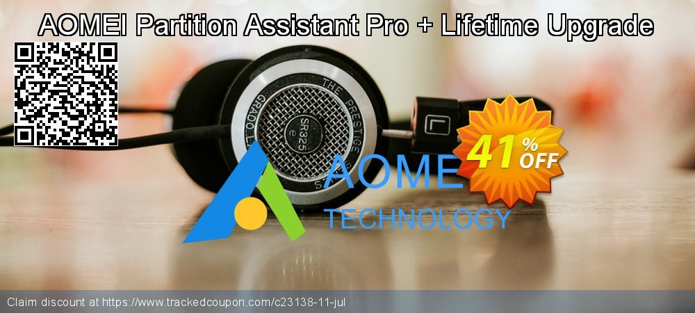 AOMEI Partition Assistant Pro + Lifetime Upgrade coupon on Lunar New Year sales