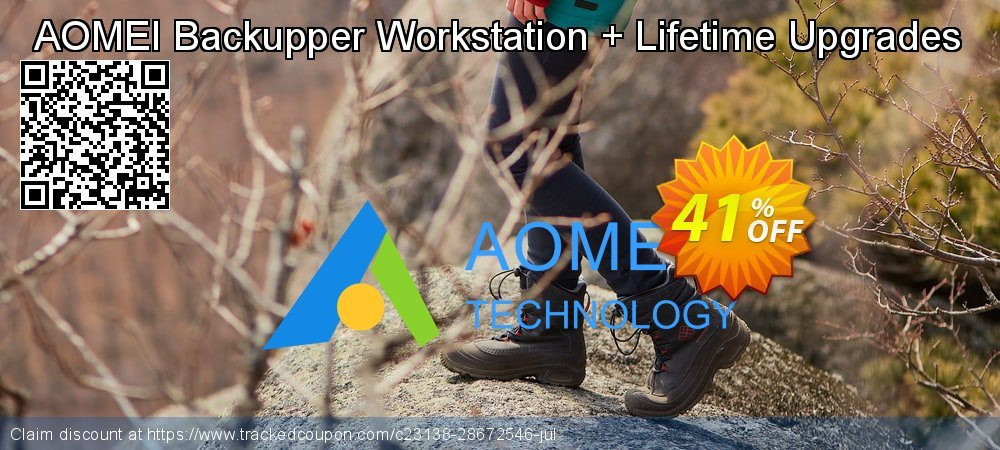 AOMEI Backupper Workstation + Lifetime Upgrades coupon on Easter offering sales