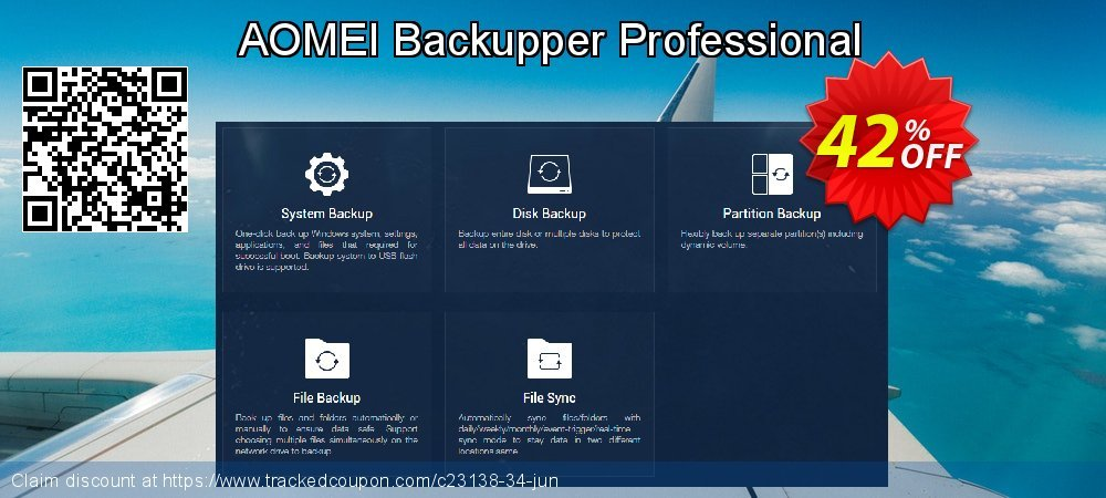 AOMEI Backupper Professional coupon on Back to School offer discount